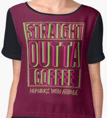 Neon Straight Outta Coffee (dark) Women's Chiffon Top