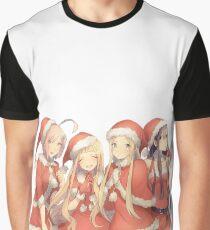 Anime Christmas Graphic T-Shirt