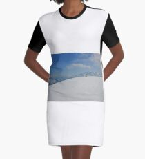 Winter landscape from Austria Graphic T-Shirt Dress