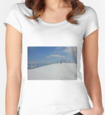 Winter landscape from Austria Women's Fitted Scoop T-Shirt