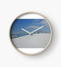Winter landscape from Austria Clock