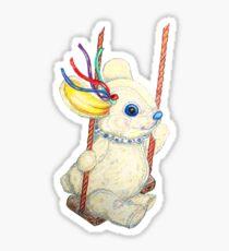 Pooky Swingin' Sticker