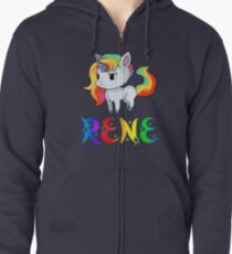 Rene Unicorn Zipped Hoodie