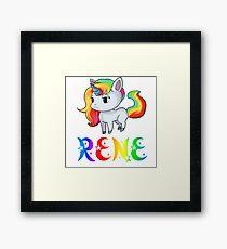 Rene Unicorn Framed Print