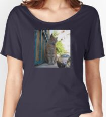 Lordly Jerusalem neighborhood cat Women's Relaxed Fit T-Shirt