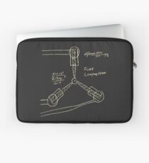 Flux Capacitor Drawing - Light Laptop Sleeve