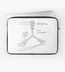 Flux Capacitor Drawing - Dark Laptop Sleeve