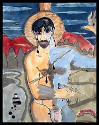 Self-Portrait as Saint Sebastian by Jaff  Seijas