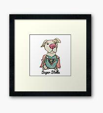 @IncrediBullStella - Super Stella by artist Henry Hall Framed Print