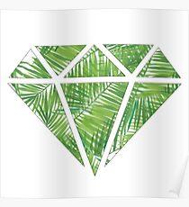 Palm Tree Diamond Poster