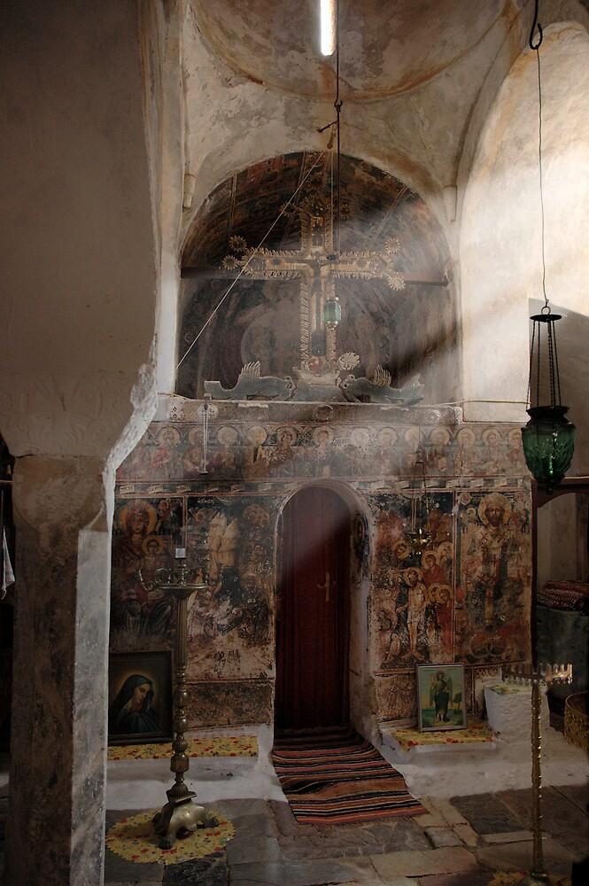 Greek Orthodox church interior by duncananderson