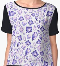 Ultra Violet Gems Pattern Chiffon Top
