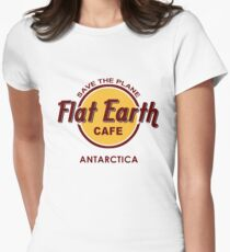 Flat Earth Cafe - Save the Plane Women's Fitted T-Shirt