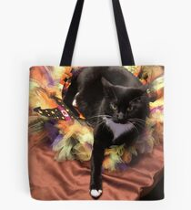Cat in a Reef Tote Bag