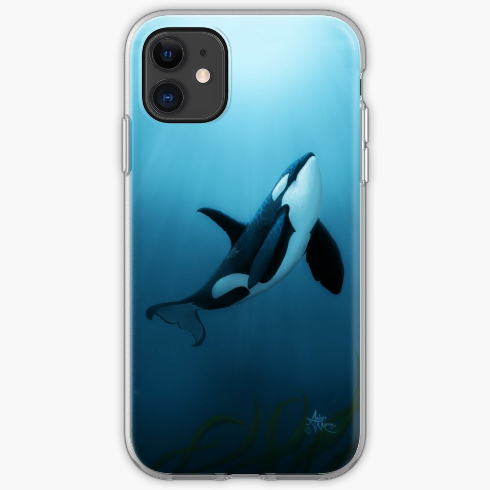 """The Dreamer"" by Amber Marine ~ (Copyright 2015) orca art / killer whale digital painting iPhone Soft Case"