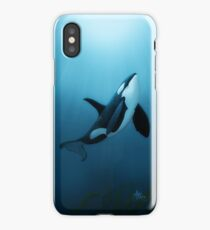 """The Dreamer"" by Amber Marine ~ (Copyright 2015) orca art / killer whale digital painting iPhone Case/Skin"