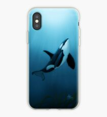 """""""The Dreamer"""" by Amber Marine ~ (Copyright 2015) orca art / killer whale digital painting iPhone Case"""