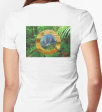 Landscapes Women's Fitted V-Neck T-Shirt
