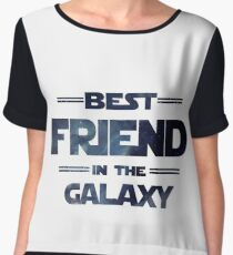 Best friend in the galaxy Women's Chiffon Top