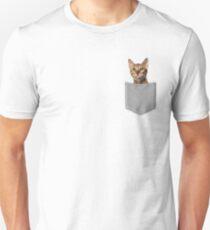 Bengal Cat In Pocket Unisex T-Shirt