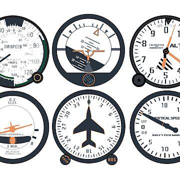 Basic Six Flight Instruments by RealPilotDesign