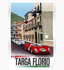 TARGA FLORIO; Vintage Grand Prix Auto Print Poster