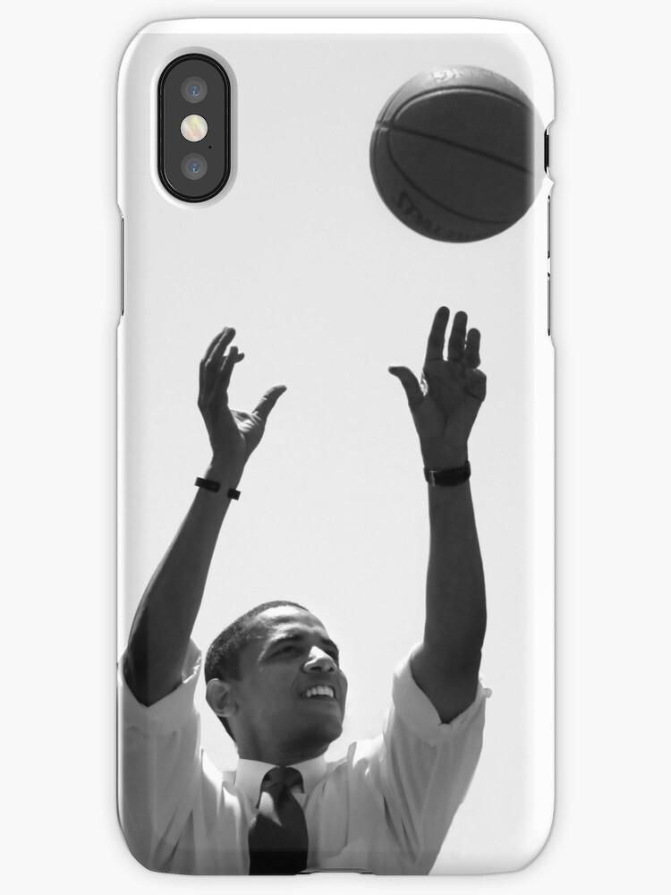 Obama Basketball Phone Case by JohnCRiva
