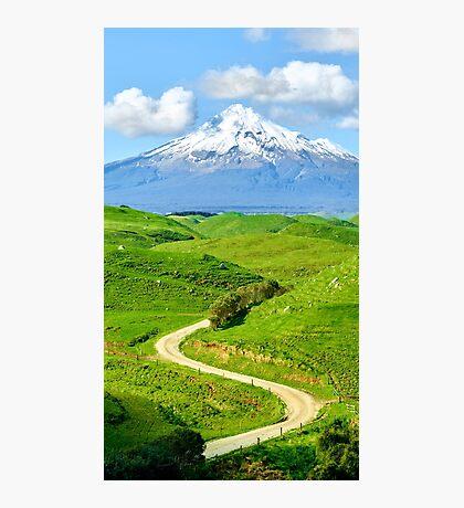Glory of Mount Taranaki Photographic Print