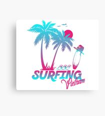 Surfing Vietnam Canvas Print