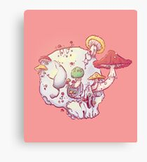 Skull No.1 // The Mushrooms One Canvas Print