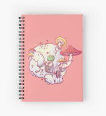 Skull No.1 // The Mushrooms One Spiral Notebook