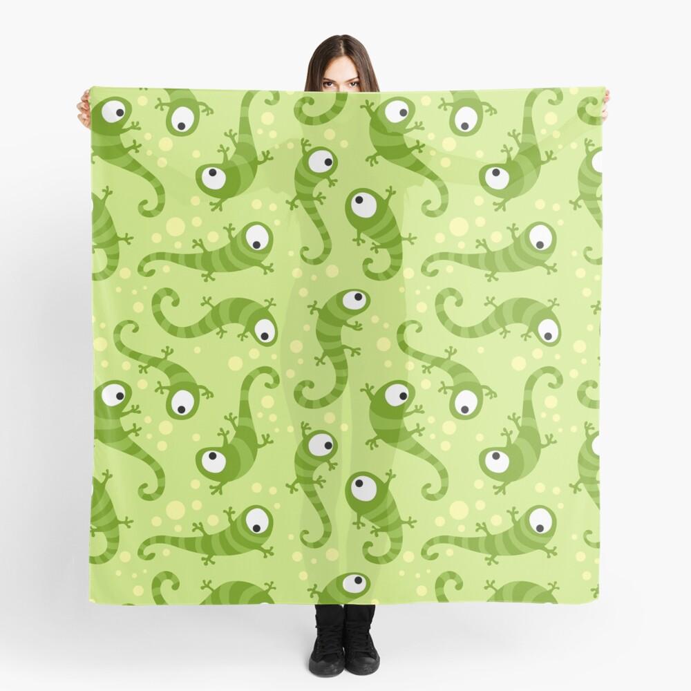 Crazy Gecko Green Scarf