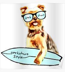mon Yorkie  Ramen chien  Poster