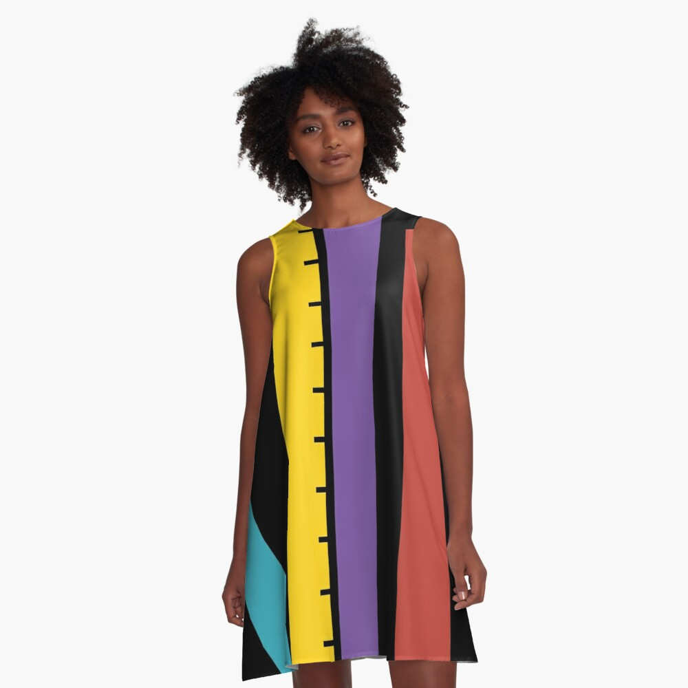 Test Strip A-Line Dress