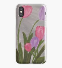 Pink and Purple Tulips iPhone Case