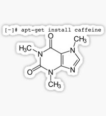 apt-get install caffeine - because Ubuntu and Debian users need caffeine too Sticker