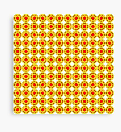 Red & Yellow Polka dots  Canvas Print