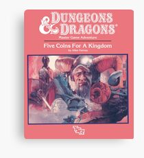 Dungeons and Dragons Kingdom Rulebook (Remastered) Canvas Print