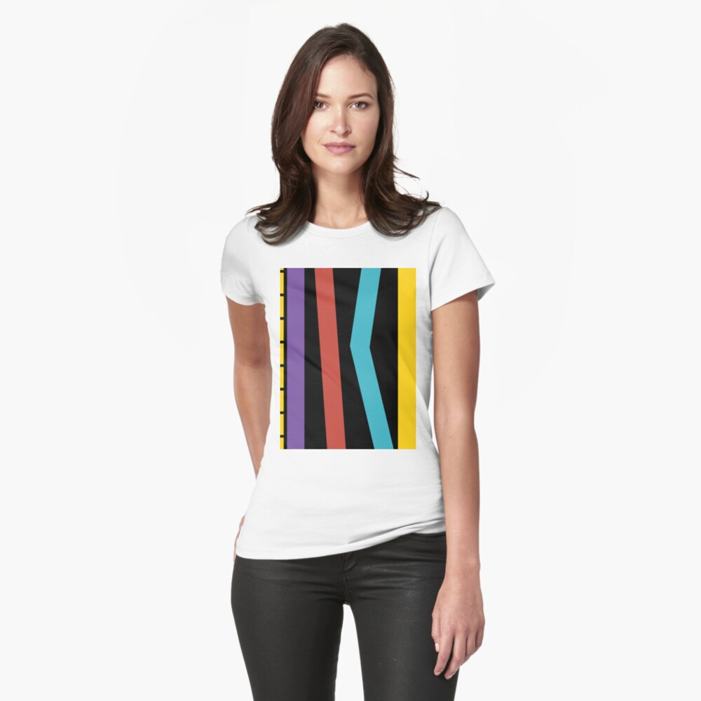 Test Strip Fitted T-Shirt