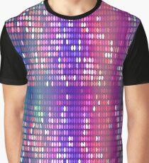 Regenbogen-Pailletten-Effekt Grafik T-Shirt