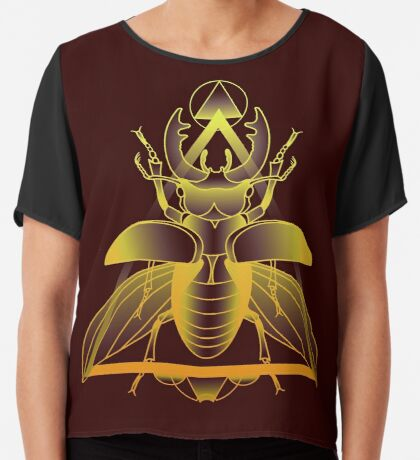Stag Beetle (Golden) Chiffon Top