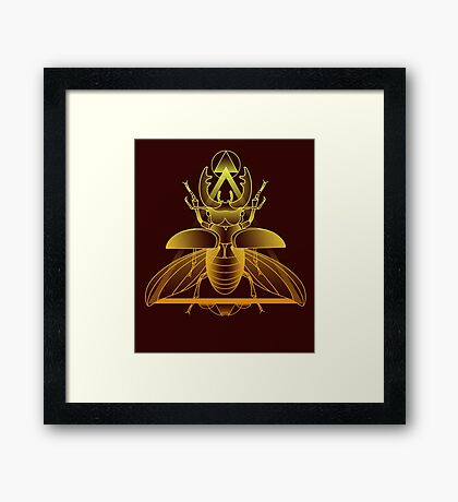 Stag Beetle (Golden) Framed Print