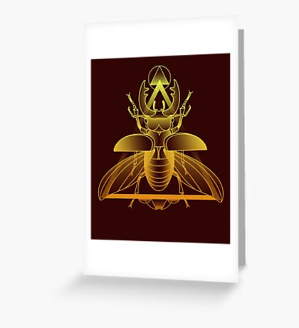 Stag Beetle (Golden) Greeting Card