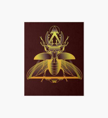 Stag Beetle (Golden) Art Board Print