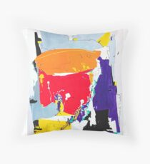 Positive Thinking - abstract oil painting Sitzkissen