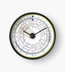 Vintage Antique Circular Slide Rule Photo Clock