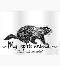 Groundhog is my spirit animal. Poster