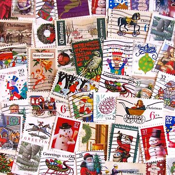 Scattered Christmas Postage by collageDP