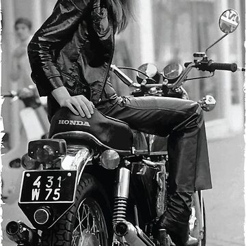 Françoise Hardy motorcycle by opngoo