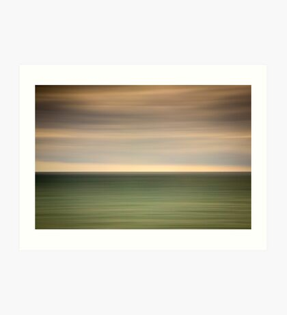 Angry sky and dark and moody waters.... Art Print